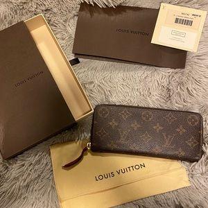 Louis Vuitton Monogram Clemence Wallet Fuschia